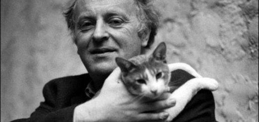Иосиф Бродский с котом, из домашнего архива