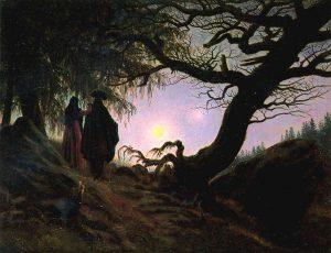 Двое, созерцающие луну, Фридрих