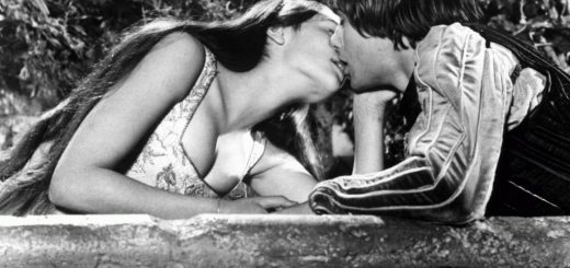 Ромео и Джульетта, кадр из фильма 1968, черно-белый