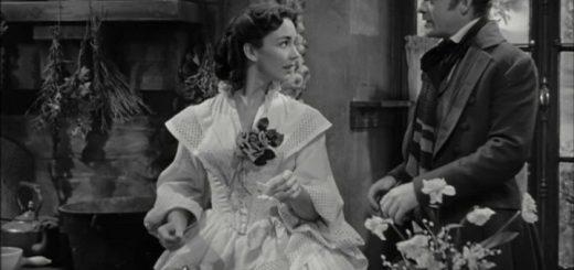 Мадам Бовари, кадр из фильма, черно-белый, Эмма Бовари, Госпожа Бовари и Леон