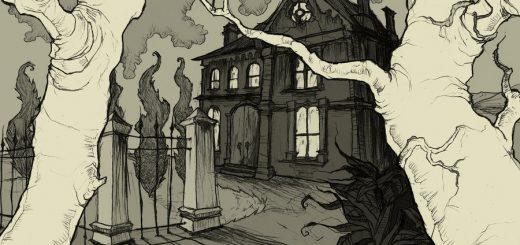 Падение дома Ашеров, иллюстрация, дом Ашеров