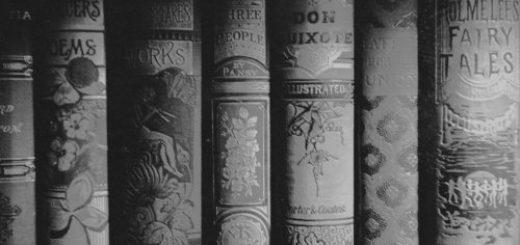 Черно-белые старые книги, красивые переплеты