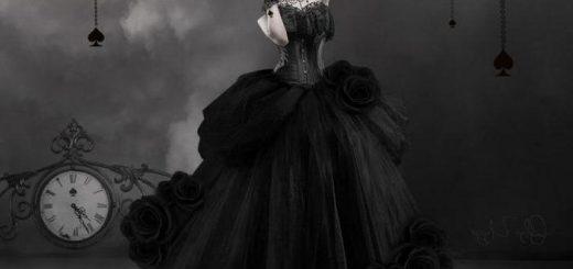 Пиковая дама, черно-белая картинка
