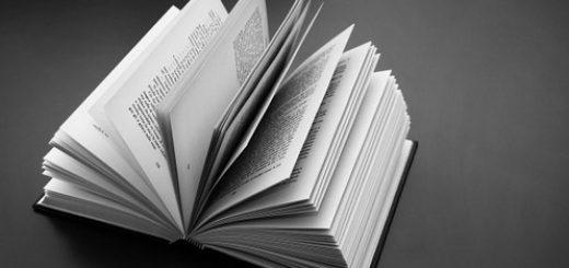 Открытая книга, черно-белая картинка
