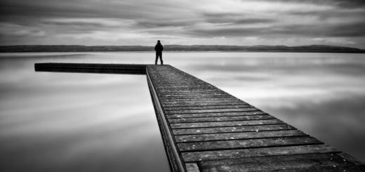 одиночество, черно-белая картинка