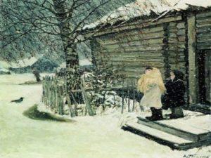 """картина Пластова """"Первый снег"""""""