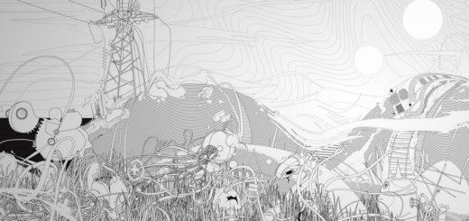 Черно-белая картинка, абстракция