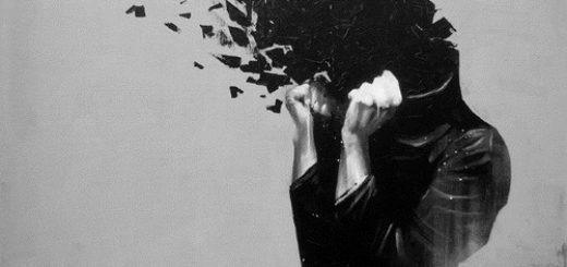 Взрыв мозга, черно-белая картинка