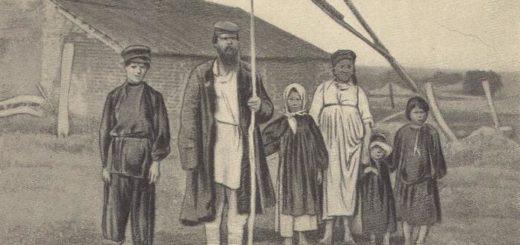 Крестьяне, кому на Руси жить хорошо, черно-белая картинка