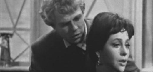 Сергей Есенин и Анна Снегина, черно-белая картинка