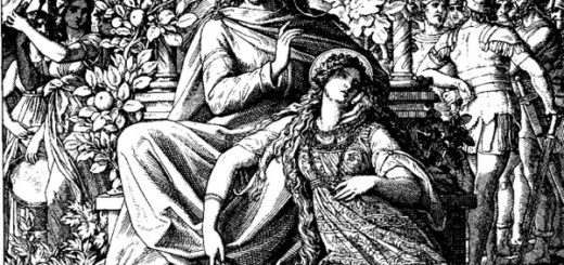 Царь Соломон и Суламифь, черно-белая картинка