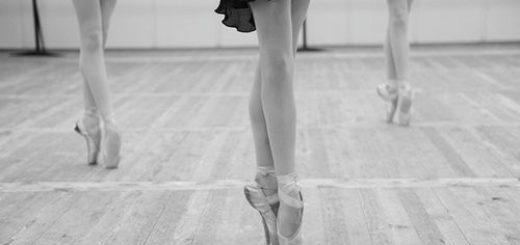 балетные танцы, черно-белое фото