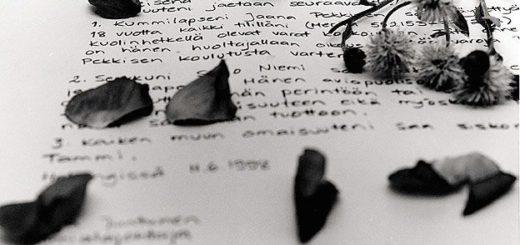 Письмо, черно-бое фото
