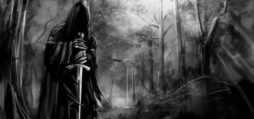 Властелин колец, черно-белое фото