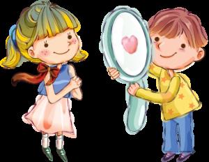 мальчик и девочка, рисунок