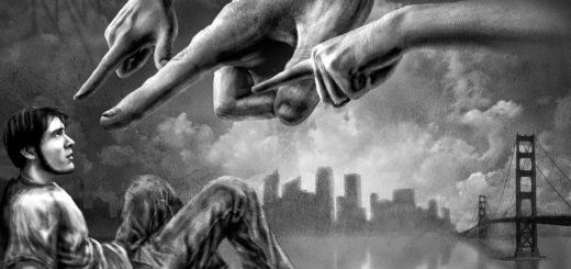 Осуждение, длинные руки, черно-белая картинка
