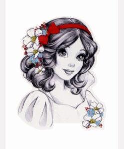 принцесса, рисунок