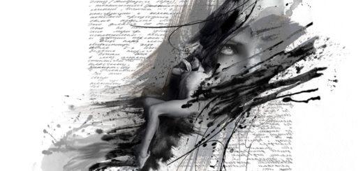 сочинение, черно-белое фото