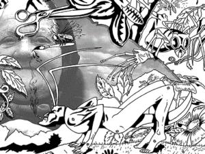 Жизнь насекомых, Пелевин, черно-белая картинка
