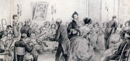 Евгений Онегин, черно-белая иллюстрация