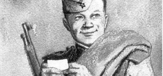 Василий Теркин, черно-белое фото
