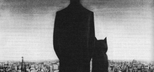 Мастер и Маргарита, Воланд и бегемот, черно-белое фото