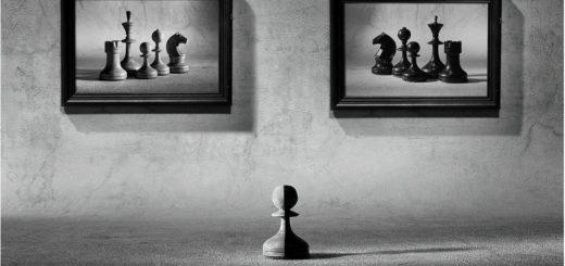 шахматы, выбор, пешка, черно-белая картинка