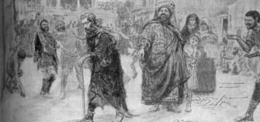Пророк, Лермонтов, иллюстрация черно-белая