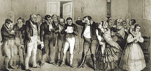 городничий, пьеса Ревизор, Гоголь, черно-белое фото