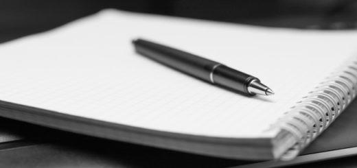 письмо, блокнот, ручка, сочинение, черно-белое фото