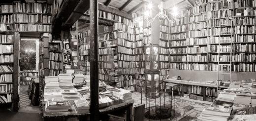 книги, домашняя библиотека, черно-белое фото