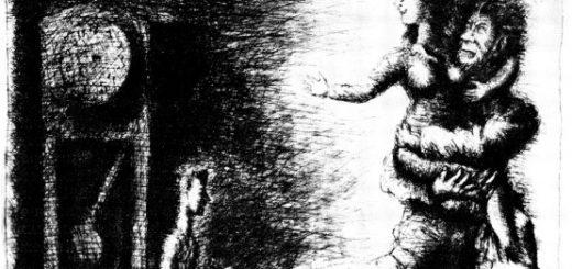 Франц Кафка, Процесс, черно-белая иллюстрация