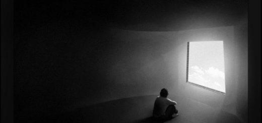 одиночество, одинокий силуэт, черно-белое фото