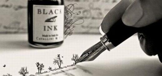 пишу книгу, паркер, чернила, писательство, черно-белое фото