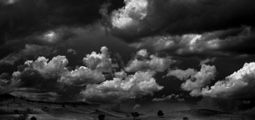 небо Аустерлица, черно-белое фото