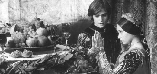 Ромео и Джульетта, черно-белое фото, кадр из фильма