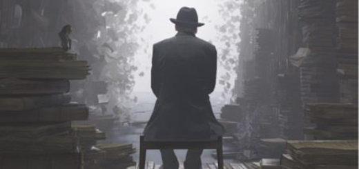 Поэт, человек и книги, одиночество, черно-белое фото