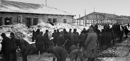 Архипелаг ГУЛАГ, советский лагерь, черно-белое фото