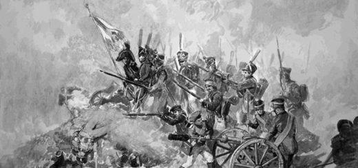 Бородинское сражение, черно-белое фото