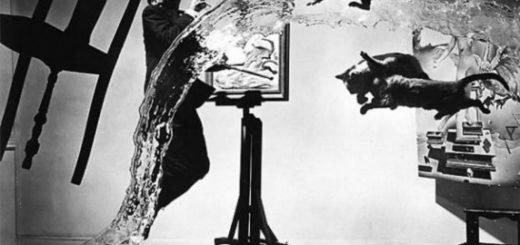 Сальвадор Дали, художник, черно-белое фото