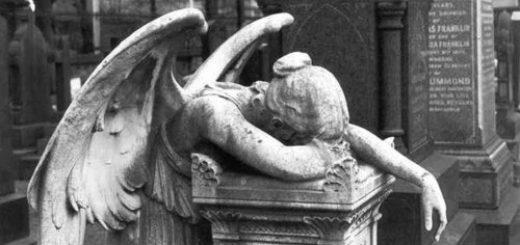 ангел, скульптура, черно-белое фото