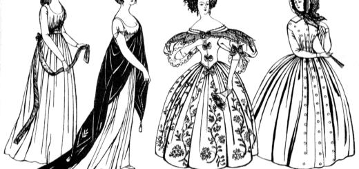 барокко мода, платья, черно-белое фото