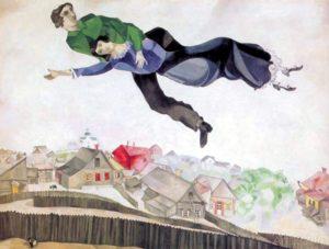 Над городом, Марк Шагал