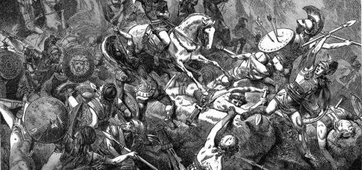 Илиада, Гомер, сражение, троянская война, черно-белый рисунок