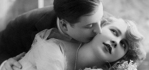 любовь, мужчина и женщина 19 век, черно-белое фото