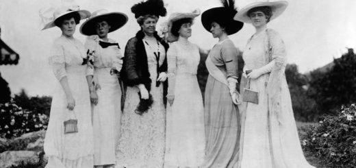 дамы 19 века, черно-белое фото