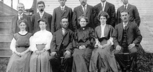семья, 19 век, черно-белое фото