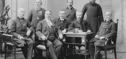 чиновники 19 века, черно-белое фото