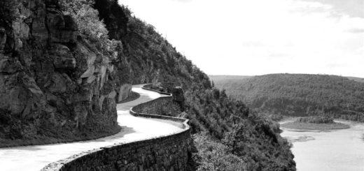 природа, пейзаж, черно-белое фото
