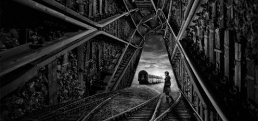 лабиринт, отчаяние, одиночество, черно-белое фото